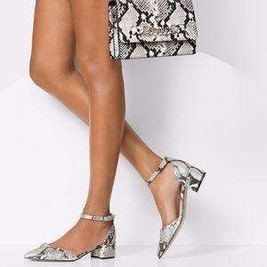 Aldo Zulian snake skin heels iridescent